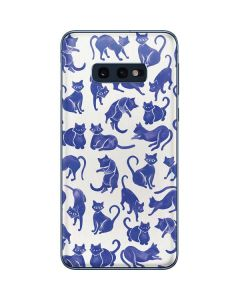 Blue Cats Galaxy S10e Skin