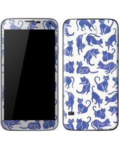 Blue Cats Galaxy S5 Skin