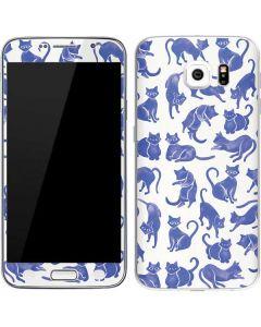 Blue Cats Galaxy S6 Skin