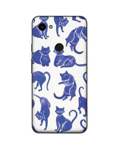 Blue Cats Google Pixel 3a Skin