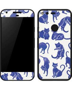 Blue Cats Google Pixel Skin
