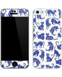 Blue Cats iPhone 5c Skin