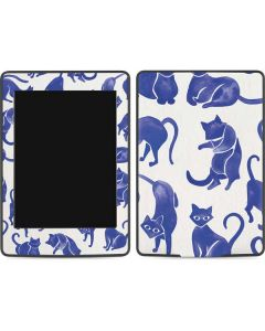 Blue Cats Amazon Kindle Skin