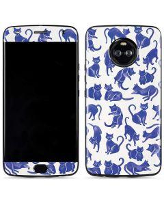 Blue Cats Moto X4 Skin