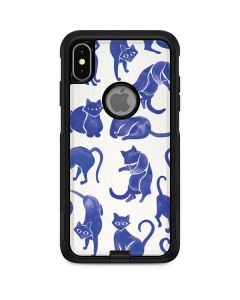 Blue Cats Otterbox Commuter iPhone Skin