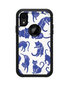 Blue Cats Otterbox Defender iPhone Skin