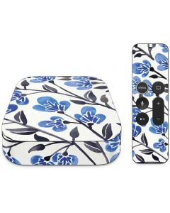 Blue Cherry Blossoms Apple TV Skin