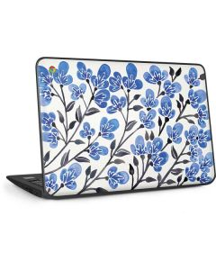 Blue Cherry Blossoms HP Chromebook Skin