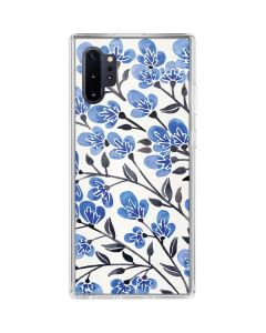 Blue Cherry Blossoms Galaxy Note 10 Plus Clear Case