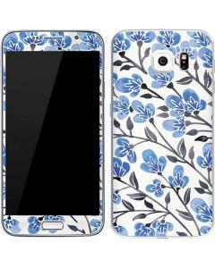 Blue Cherry Blossoms Galaxy S6 Skin