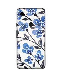 Blue Cherry Blossoms Google Pixel 3a Skin