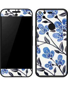 Blue Cherry Blossoms Google Pixel Skin