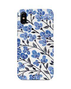 Blue Cherry Blossoms iPhone XS Max Lite Case