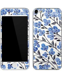 Blue Cherry Blossoms Apple iPod Skin