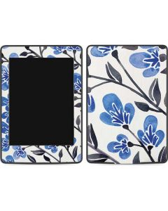 Blue Cherry Blossoms Amazon Kindle Skin