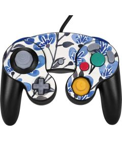 Blue Cherry Blossoms Nintendo GameCube Controller Skin