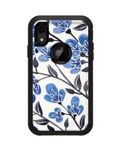 Blue Cherry Blossoms Otterbox Defender iPhone Skin