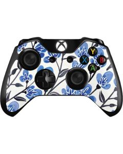 Blue Cherry Blossoms Xbox One Controller Skin