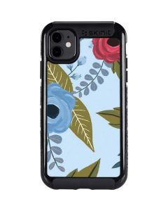 Blue Fall Flowers iPhone 11 Cargo Case