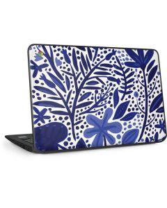 Blue Garden HP Chromebook Skin