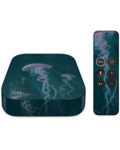 Blue Jellyfish Apple TV Skin