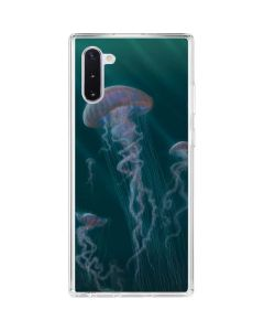 Blue Jellyfish Galaxy Note 10 Clear Case