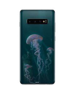Blue Jellyfish Galaxy S10 Plus Skin
