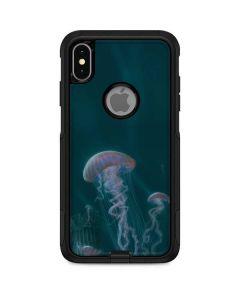 Blue Jellyfish Otterbox Commuter iPhone Skin