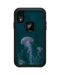 Blue Jellyfish Otterbox Defender iPhone Skin