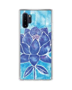 Blue Lotus Galaxy Note 10 Plus Clear Case