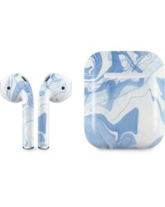 Blue Marbling Apple AirPods Skin