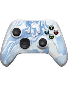 Blue Marbling Xbox Series S Controller Skin
