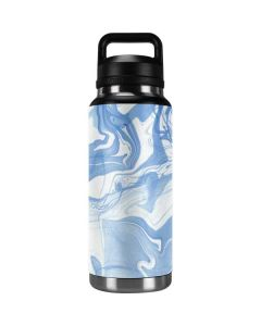 Blue Marbling YETI Rambler 36oz Bottle Skin