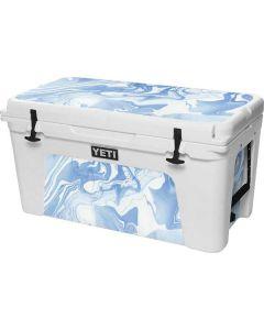 Blue Marbling YETI Tundra 75 Hard Cooler Skin