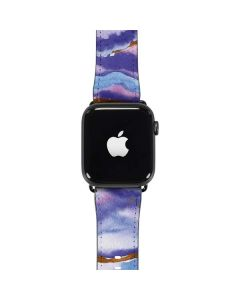 Blue Violet Watercolor Geode Apple Watch Band 38-40mm