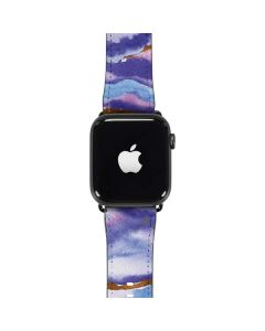 Blue Violet Watercolor Geode Apple Watch Band 42-44mm