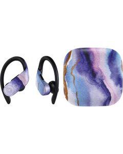 Blue Violet Watercolor Geode PowerBeats Pro Skin