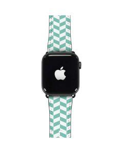 Blue White Chevron Apple Watch Case