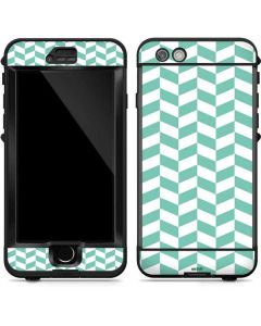 Blue White Chevron LifeProof Nuud iPhone Skin