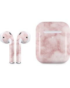 Blush Marble Apple AirPods 2 Skin