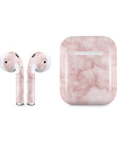 Blush Marble Apple AirPods Skin