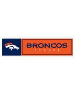 """NFL Denver Broncos 11"""" x 3"""" Bumper Sticker"""