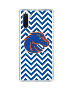 Boise State Chevron Galaxy Note 10 Clear Case