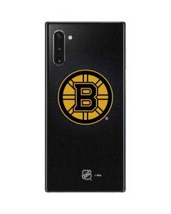 Boston Bruins Black Background Galaxy Note 10 Skin