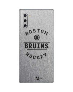 Boston Bruins Black Text Galaxy Note 10 Skin