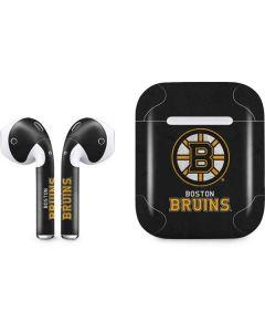 Boston Bruins Distressed Apple AirPods Skin
