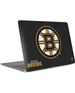 Boston Bruins Distressed Apple MacBook Air Skin