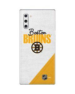 Boston Bruins Script Galaxy Note 10 Skin