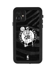 Boston Celtics Black Animal Print iPhone 11 Waterproof Case