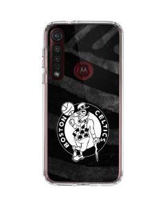 Boston Celtics Black Animal Print Moto G8 Plus Clear Case